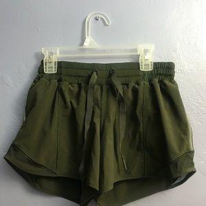 Lululemon Hotty Hot Shorts Military Tall